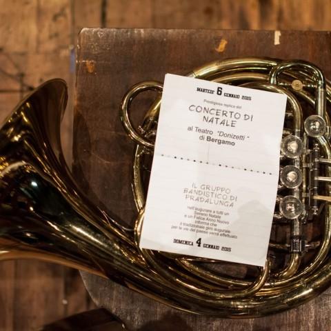 La Banda di Pradalunga ripete il concerto di Natale al teatro Donizetti di Bergamo