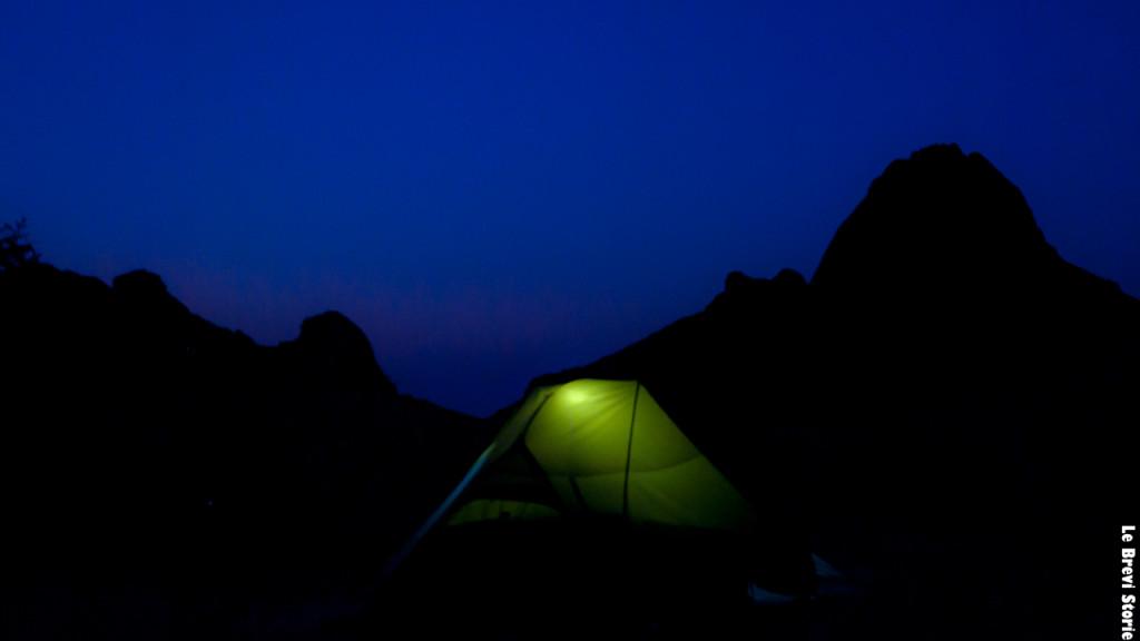 La tenda sotto lo Spitzkoppe