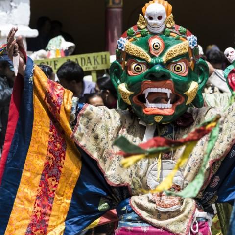 Le maschere usate dai monaci durante il festival sono un concentrato di simbologia