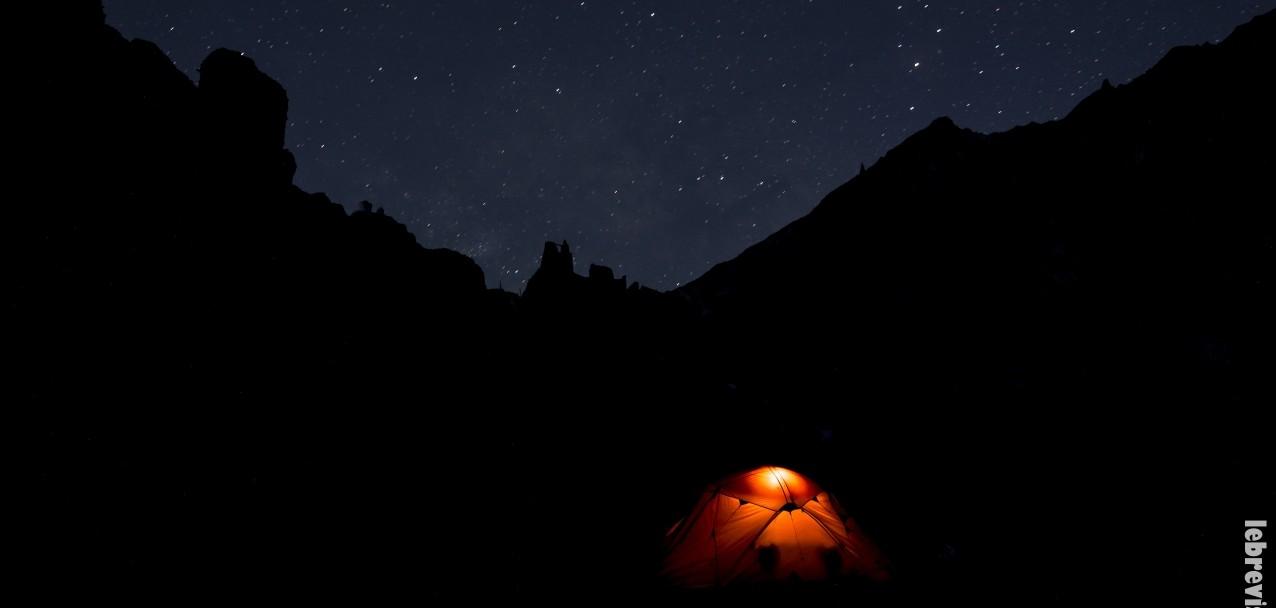 La nostra tenda sotto il cielo stellato del Ladakh